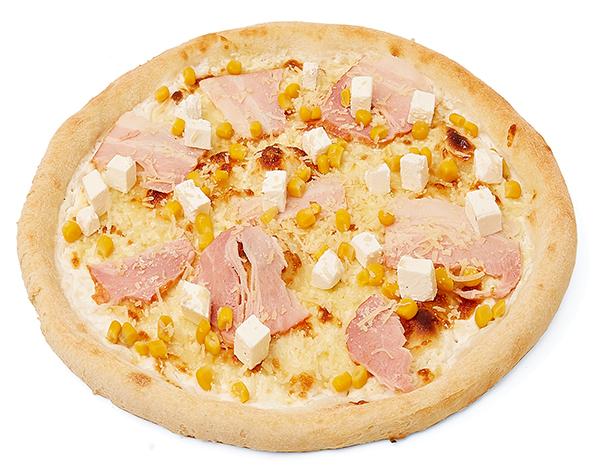 Піца сирна з беконом